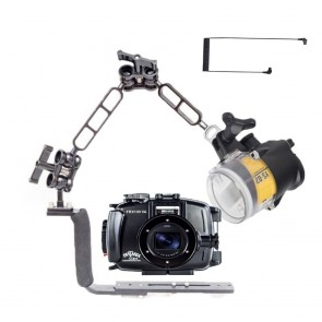 Fantasea FRX100VA Underwater Housing for Sony RX100 III / IV / V / VA w/Sea & Sea YS-D2J Strobe