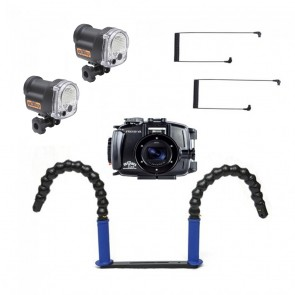 Fantasea FRX100VA Underwater Housing for Sony RX100 III / IV / V / VA w/Dual YS-03 Solis