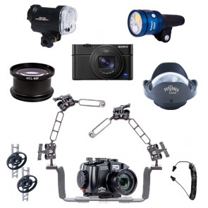 Mozaik Underwater Camera Housing Light Bundle MOZ-FRX100VI-FULL- 01