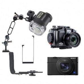 Mozaik FRX100 VI LE Underwater Housing AND Sony RX100 VI Camera w/Sea & Sea YS-01 Solis