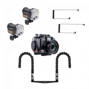 Fantasea FRX100VII Underwater Housing for Sony RX100 VII / VI w/Dual YS-03 Solis Strobe