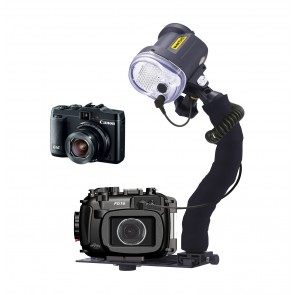 Mozaik FG16 Underwater Housing AND Canon G16 Camera w/Sea & Sea YS-03