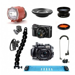 Fantasea FG7XII A Underwater Housing AND Canon G7X II Camera w/Inon S-2000 BigEye / Macro / RedEye