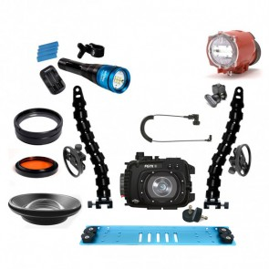 Fantasea FG7XII Underwater Housing for Canon G7X II w/Inon S-2000 Fantasea Radiant 2500 & Lenses