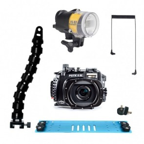 Fantasea FG7XII A Underwater Housing for Canon G7X II w/Sea & Sea YS-D2J