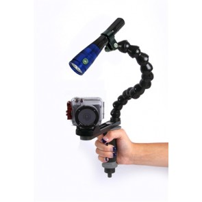 Mozaik Sports HD Underwater Housing AND GoPro/ActionCam  Camera w/Fantasea Radiant 1600 Video Light
