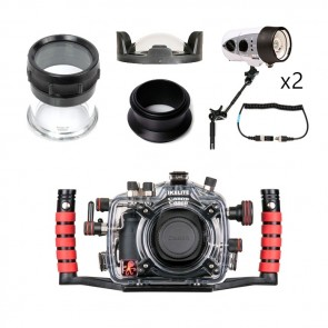 Ikelite Underwater DSLR Package for Canon 5D Mark III (Mark 3) with Canon 100 & Canon 16-35 Lens Ports & Lighting