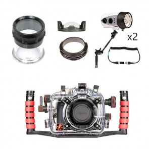 Ikelite Underwater DSLR Package for Canon 70D with Canon 100 & Tokina 10-17 Lens Ports & Lighting