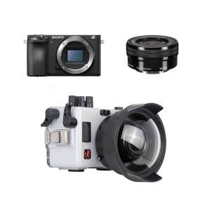 Ikelite Underwater Mirrorless Housing for Sony A6500 with 16-50 mm Sony f/3.5-5.6 OSS E PZ (SELP1650)  Lens