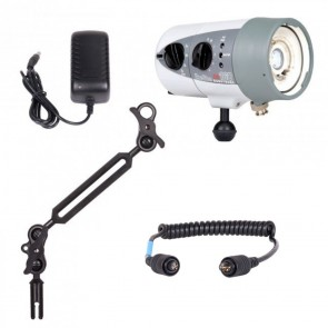 Ikelite DS160 -  Mounted on a Ikelite Ball Arm Light Set