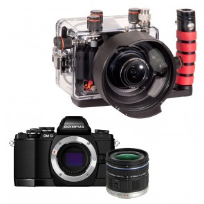 Olympus OM-D E-M10 With Zuiko 9-18mm Lens AND Ikelite Underwater Housing Bundle