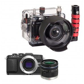 Olympus PEN E-PL7 With Zuiko 9-18mm Lens AND Ikelite Underwater Housing Bundle