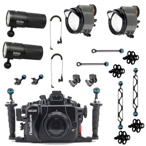 Marcelo's Kit - Nauticam Housing for Panasonic GH5 with Dual Big Blue VL10000P Video Lights and Dual INON Z-330 II Strobes