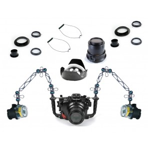Nauticam Underwater DSLR Package for Canon 70D with Canon 100 & Tokina 10-17 Lens Ports & Lighting