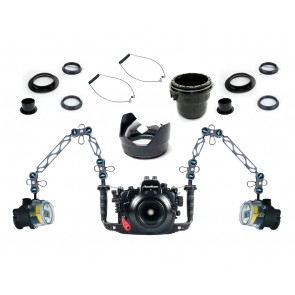Nauticam Underwater DSLR Package for Nikon D7100 with Nikon 105 & Tokina 10-17 Lens Ports & Lighting