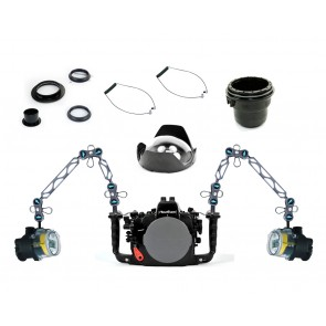 Nauticam Underwater DSLR Package for Nikon D800, D800E with Nikon 105 & Sigma 15 Lens Ports & Lighting