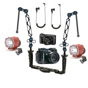 Nauticam NA-G7XII Underwater Housing AND Canon G7X II Camera w/Dual Inon S-2000 Strobe