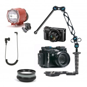 Nauticam NA-G7XII Underwater Housing AND Canon G7X II Camera w/Inon S-2000 Strobe