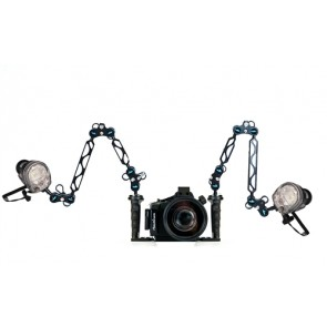 Nauticam housing for Sony NEX-5N camera w/18-55mm Lens and Dual YS-01 Strobes on Nauticam Tray
