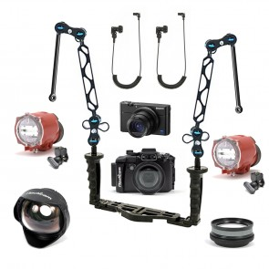 Nauticam NA-RX100V Underwater Housing AND Sony RX100 V Camera w/Dual Inon S-2000 Strobe