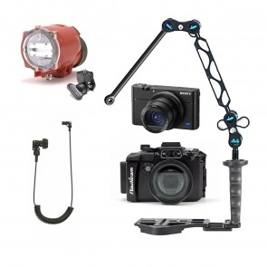 Nauticam NA-RX100V Underwater Housing AND Sony RX100 V Camera w/Inon S-2000 Strobe