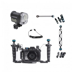 Nauticam NA-RX100VI Underwater Housing for  RX100 VI w/Sea & Sea YS-01 Solis