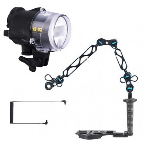 Sea & Sea YS-D2 -  Mounted on a Nauticam Flexitray Light Set