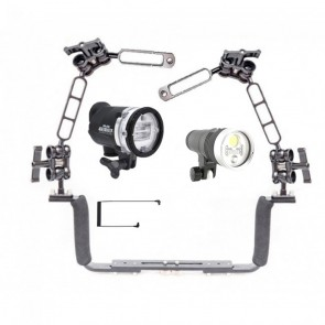 Sea & Sea YS-D3 - Kraken Hydra 3500S+ RGB Mounted on a Ocean Tray Arm Kit Light Set