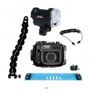 Fantasea FG16 Underwater Housing for Canon G16 w/S&S YS-01 Strobe