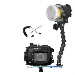 Fantasea FG7X Underwater Housing for Canon G7X w/S&S YS-D2 Strobe
