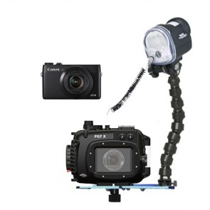 Fantasea FG7X Underwater Housing AND Canon G7X Camera w/S&S YS-01 Strobe