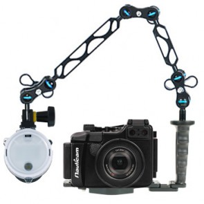 Nauticam NA-RX100 Underwater Housing for Sony RX100 w/Sea & Sea YS-D1 Strobe