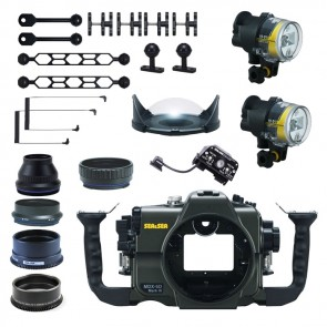 Sea and Sea Underwater DSLR Package for Canon 5D Mark III (Mark 3) with Canon 100 & Canon 16-35 Lens Ports & Lighting