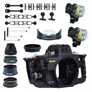 Sea and Sea Underwater DSLR Package for Canon 70D with Canon 100 & Tokina 10-17 Lens Ports & Lighting