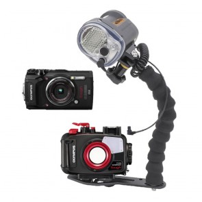 Mozaik PT-058 Underwater Housing AND Olympus TG-5 Camera w/Sea and Sea YS-03 Solis Strobe