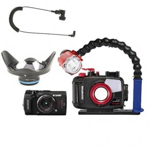 Mozaik PT-058 Underwater Housing AND Olympus TG-5 Camera w/Inon S-2000 Strobe