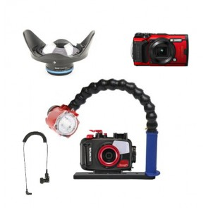 Mozaik Underwater Camera Housing Light Bundle MOZ-TG6CAM-KRL02-S2000- 01