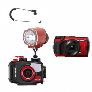 Mozaik Underwater Camera Housing Light Bundle MOZ-TG6CAM-S2000-CS- 01