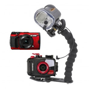 Mozaik PT-059 Underwater Housing AND Olympus TG-6 Camera w/Sea and Sea YS-03 Solis Strobe