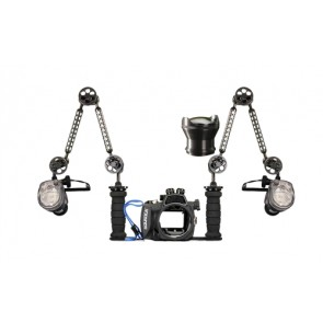 Aquatica housing for Sony NEX-5N w/18-55mm lens w/ Dual YS-01 Strobes on TLC Tray