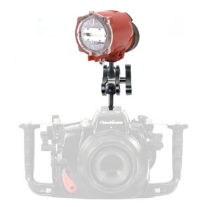 INON S-2000 Underwater Flash / Strobe -  Mounted on a Top Mount Ball & Clamp Light Set