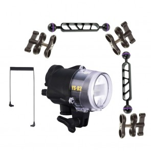 Sea & Sea YS-D2J -  Mounted on a i-Das B&J Arm Light Set