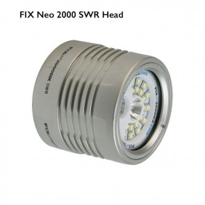 FIX Neo 2000 DX Light SWR (Head Only) (2,000 lumen (Wide) / 720 lumen (Spot) / 200 lumen (Red) Lumens) Underwater Video Light