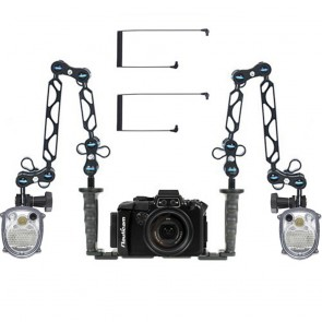 Nauticam  Underwater Housing for Sony RX100 III w/Dual Sea & Sea YS-01 Solis