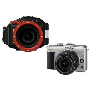 Olympus PT-EP03 Underwater Housing AND PEN E-PL2 Micro 4/3 Camera