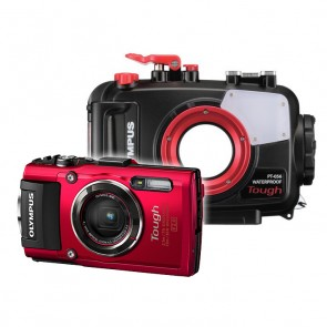 Olympus PT-056 Underwater Housing AND Olympus TG-4 Camera