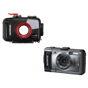PT-053 Underwater Housing AND Olympus TG-1 / TG-2 Digital Camera