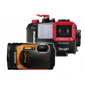Olympus PT-057 Underwater Housing AND Olympus TG-860 Camera