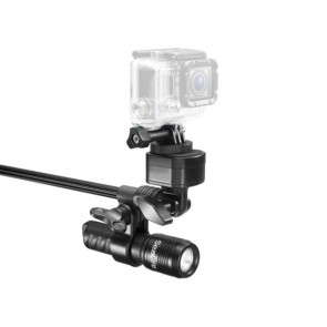 Sea Dragon Mini 600 Video Light -  Mounted on a Sealife AquaPod Light Set