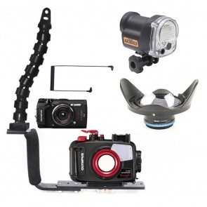 Olympus TG-5, YS-03 Solis strobe and video light package